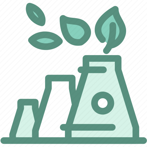 eco factory, ecology, green, green energy, green industry, industry, leaf icon