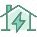 ecology, energy, green, home, house electricity, power, solar house icon