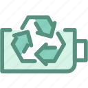eco, ecology, energy, green, industry, recycle battery icon
