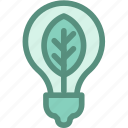 ecology, electricity, fluorescent light bulb, green energy, sustainability, green, renewable icon