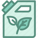 eco, ecology, energy, green, jerrycan, oil icon