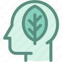 eco, ecology, environment, environmental conservation, green, green brain, thinking icon