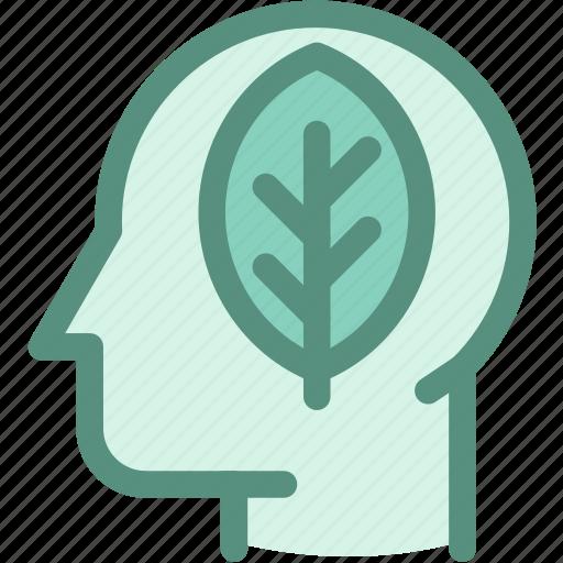 eco, ecology, environment, environmental conservation, green, green brain, thinking icon
