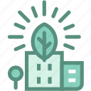 eco city, ecology, energy, green city, green energy, renewable energy, sustainability icon