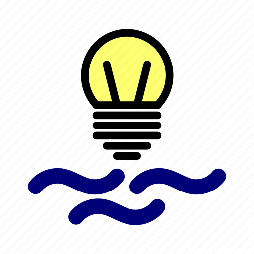 electricity, energy, environment, hidroelectricity, water energy icon