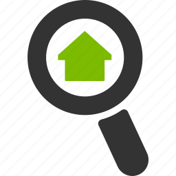 dashboard, glass, home, house, magnifier, search, zoom icon