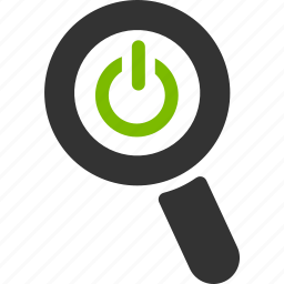 glass, logout, magnifier, off, power, search, zoom icon