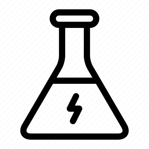 bolt, chemical, energy, erlenmeyer, flask, glass, liquid icon
