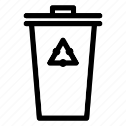 bin, can, cycle, ecologic, glass, green, lid, organic, paper, recycle, trash icon