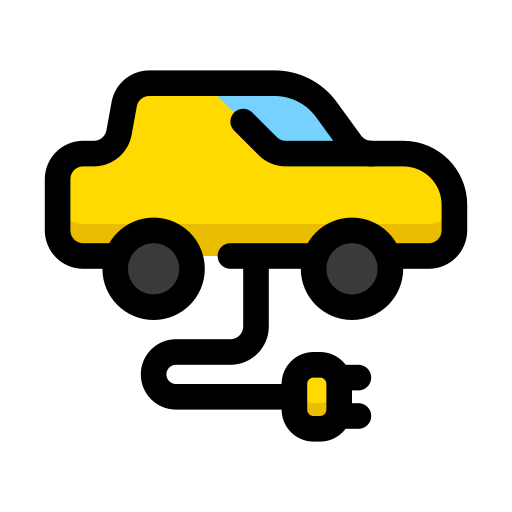 car, electric, electrocar, tesla icon