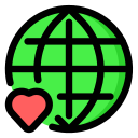 enviroment, green, love, planet, save, world icon