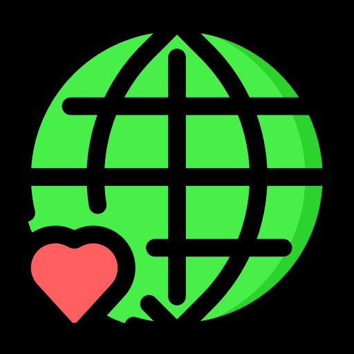 enviroment, green, love, planet, save, world icon