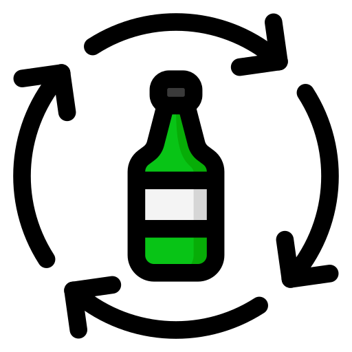 bottle, glass, recycle, recycling icon