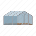hotbed, cultivation, greenhouse, frame, equipment, agriculture, construction icon