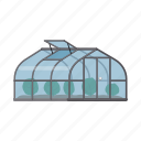 agriculture, construction, cultivation, equipment, frame, greenhouse, hotbed icon