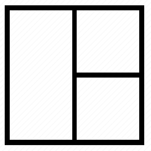 article, grid, linear, magazine, markup, structure icon