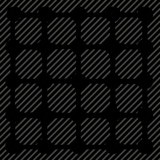 complex, grid, structure, transform icon