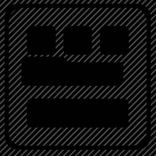article, grid, structure, transform icon