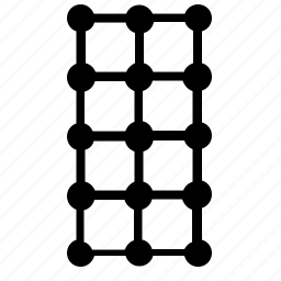 grid, structure, transform, vertical icon