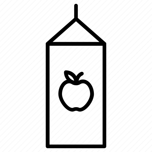 apple, box, drink, juice icon