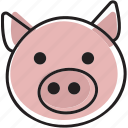 animal, meat, pig, pork icon