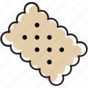 biscuit, cookie, knackenbrot icon