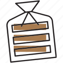 bakery, bread, pastry, product, toast, wrapped icon