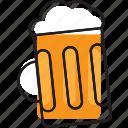 beer, glass, mug, pilsner