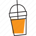 cup, drink, fresh, fruit, juice icon