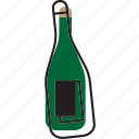 alcohol, bottle, champagne, wine