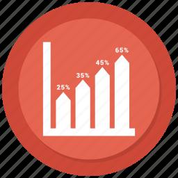 bar, graph, growth, growth chart icon