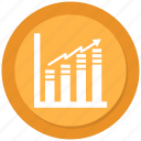 bar, graph, growth icon