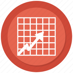 arrow, business, chart, infographic, statistic icon