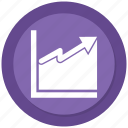 arrow, business, chart, infographic icon