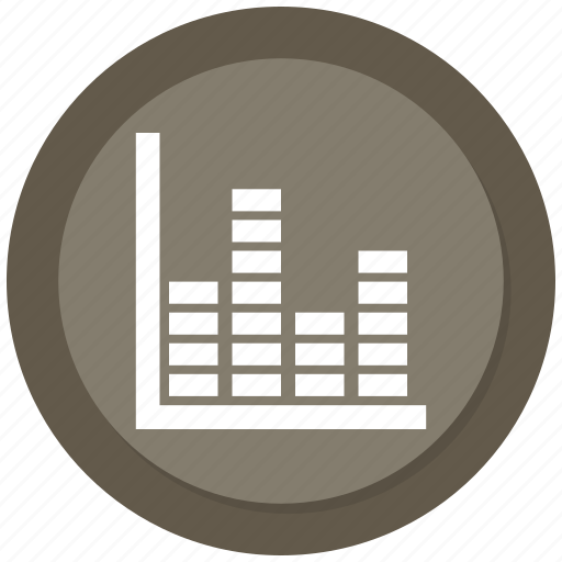 business, chart, infographic, music bar icon