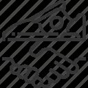 activation, customer, handshake, hold, relationship, shoe icon
