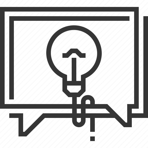 bubble, chat, consulting, customer service, dialog, lamp, light icon
