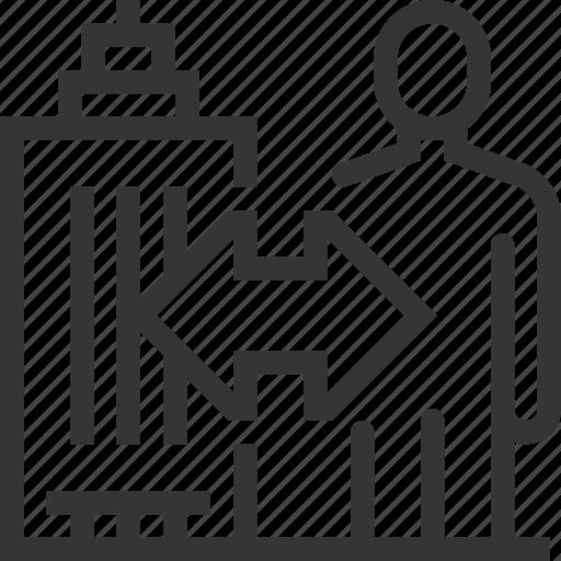 b2c, building, business, employee, person, skyscraper, to customer icon