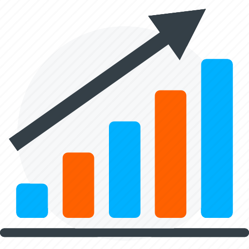 analytics, chart, financial revenue, graph, growth, profit, sales icon icon