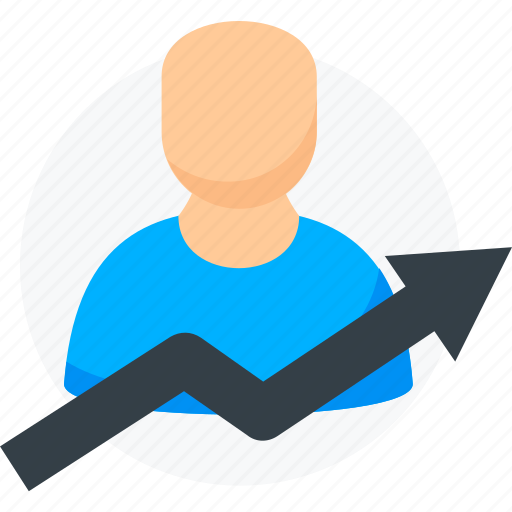 business, growth, human, income, person, user icon icon
