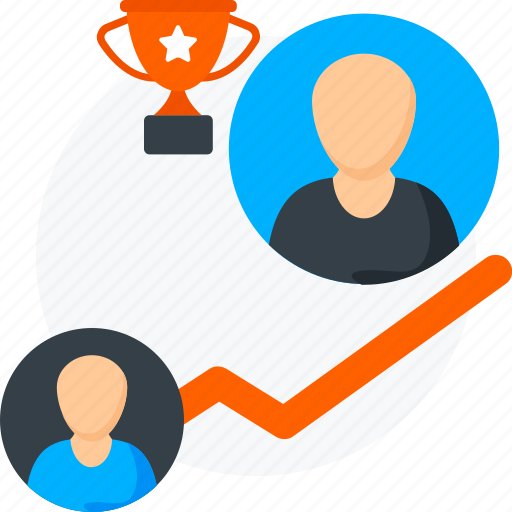 businessman, employee growth icon, growth, person growth, success, trophy icon
