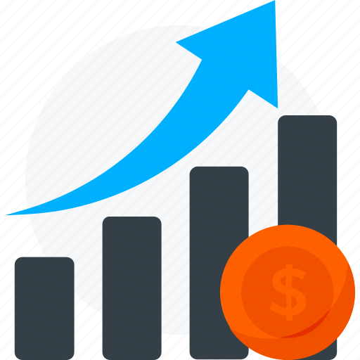 analytics, dollar, growth, income, money icon icon