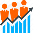 business growth, business success, team, teamwork icon icon