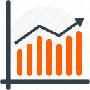 arrow, business, diagram, graphic, growth, report icon icon