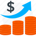 business, growth, hike, improvement, profit, rise, success icon icon
