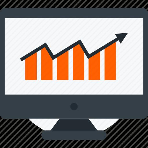 bar graph, chart, financial report, statistics, web analytics icon icon