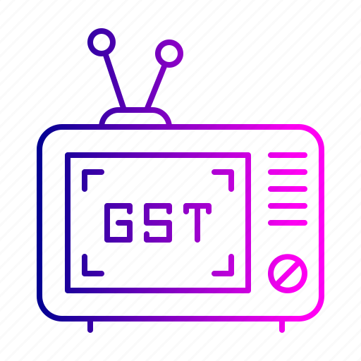 device, electric, goods, gst, item, tax, television icon