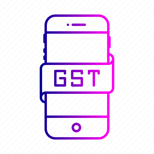 device, electronic, gst, mobile, service, tax icon