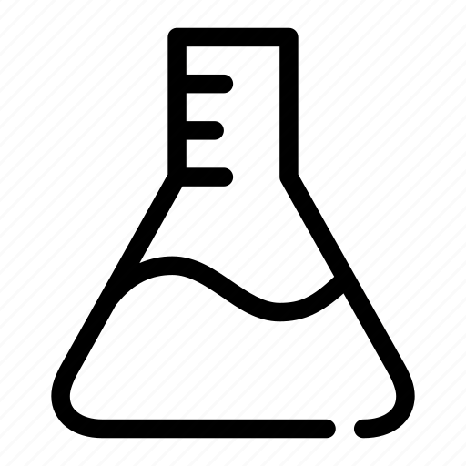 chemistry, flask, fluid, lab, research icon