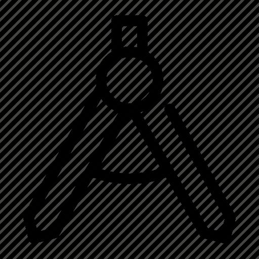 circle, compass, design, draw, tool icon